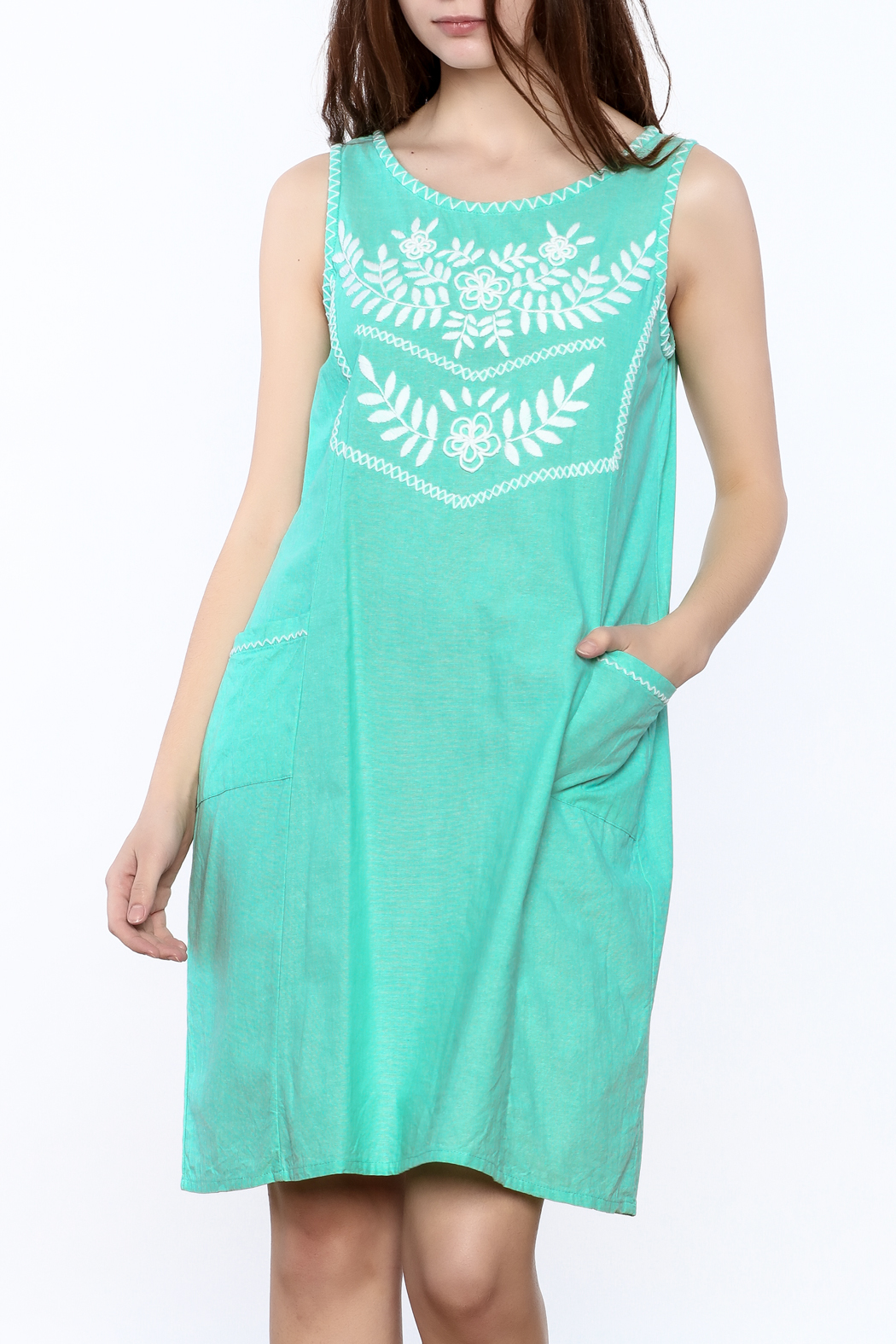 Abrazo Style Maria Embroidered Dress - Main Image
