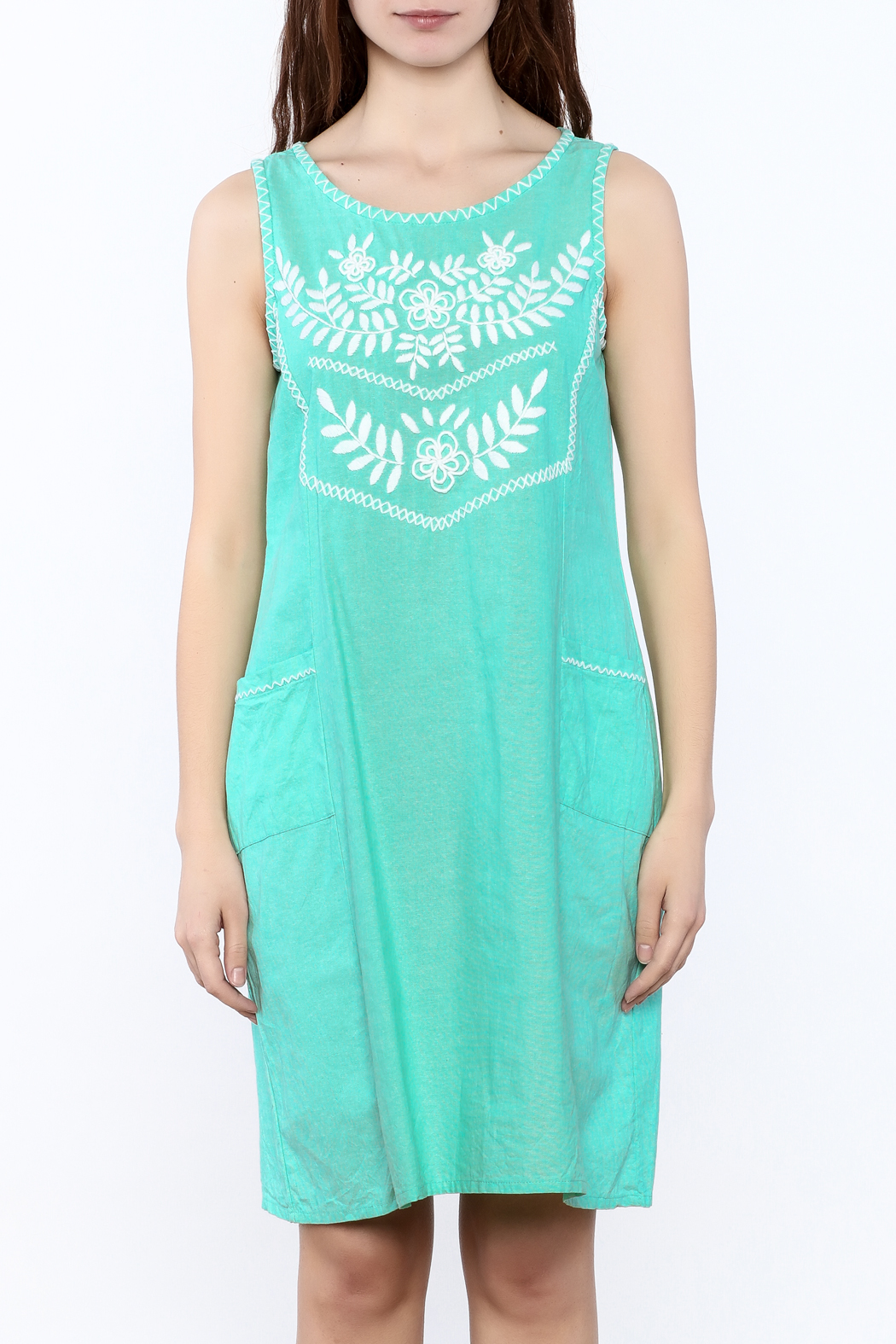 Abrazo Style Maria Embroidered Dress - Side Cropped Image