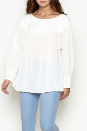 Abrazo Style White Peasant Top - Product Mini Image