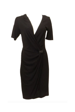 Shoptiques Product: ABS Black Wrap Dress