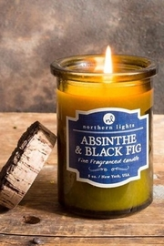 Northern Lights Absinthe and Black Fig Candle - Front cropped