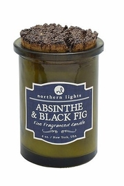 Northern Lights Absinthe and Black Fig Candle - Front full body