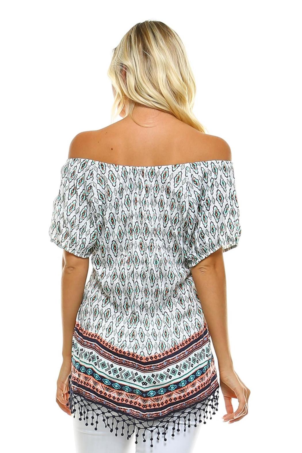 Absolutely Famous Hanky Hem Top - Front Full Image