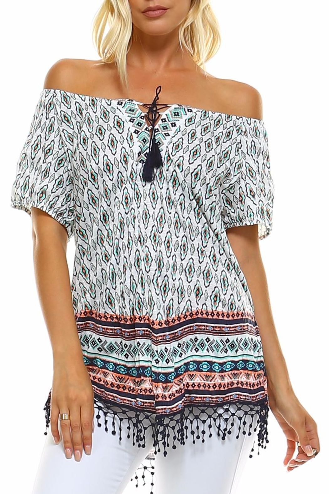 Absolutely Famous Hanky Hem Top - Front Cropped Image