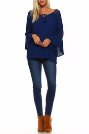 Absolutely Famous Lace-Up Front Top - Front full body