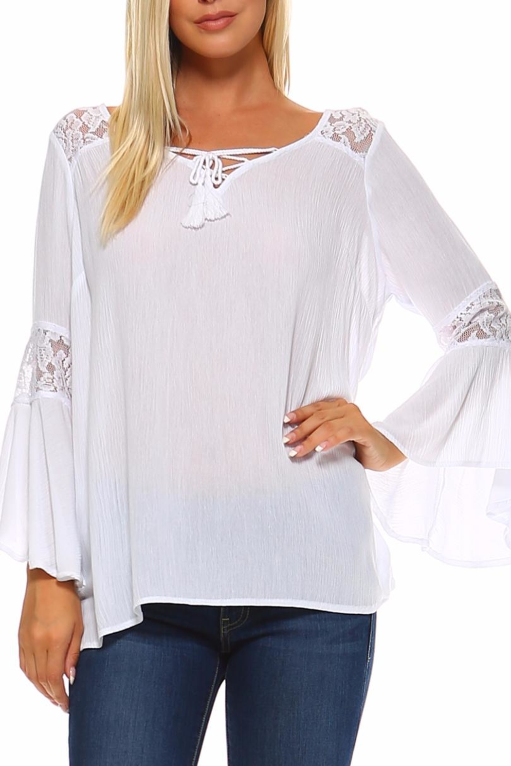 Absolutely Famous Lace-Up Front Top - Main Image