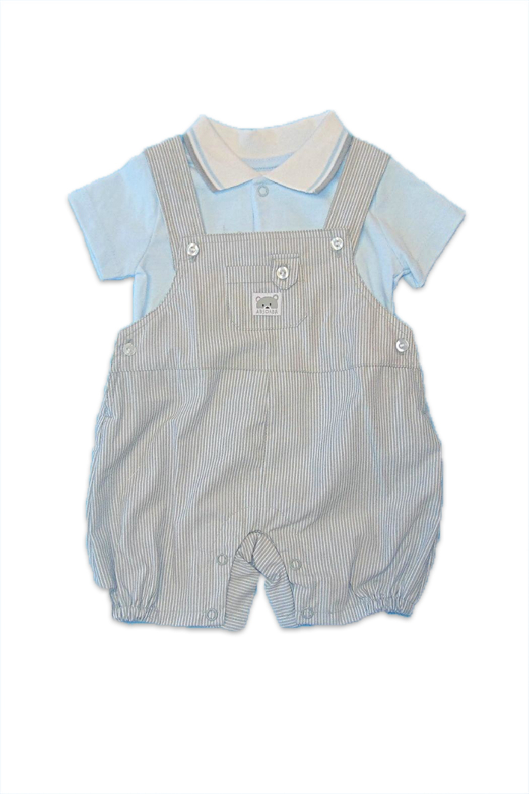 Absorba Boy Dungaree Set - Front Cropped Image