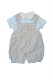 Absorba Boy Dungaree Set - Front cropped