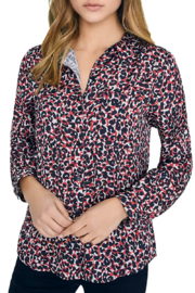 Sanctuary Abstract Animal-Print Blouse - Front cropped