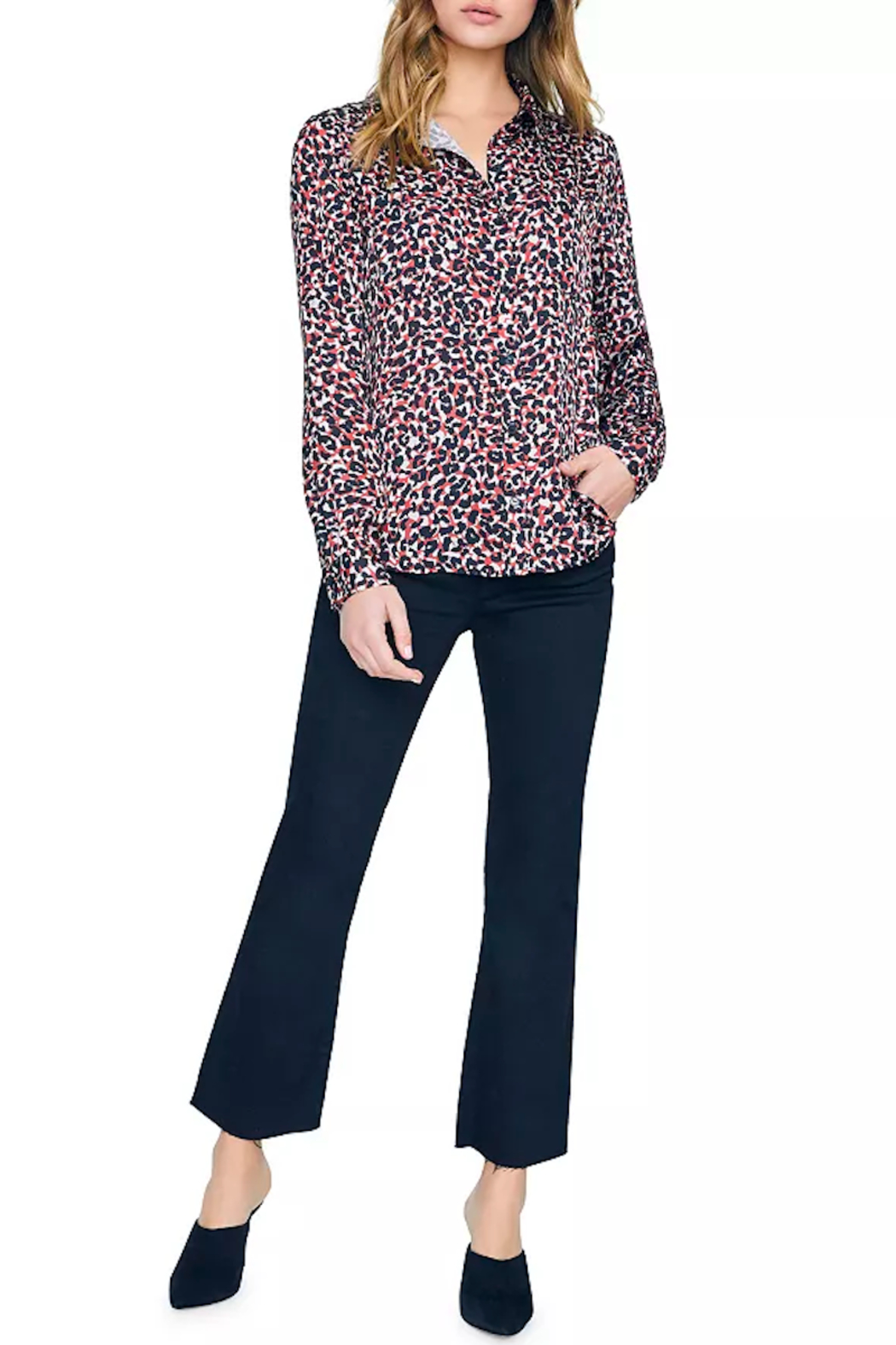 Sanctuary Abstract Animal-Print Blouse - Side Cropped Image