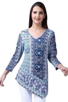 Parsley & Sage Abstract Asymmetrical Tunic - Alternate List Image