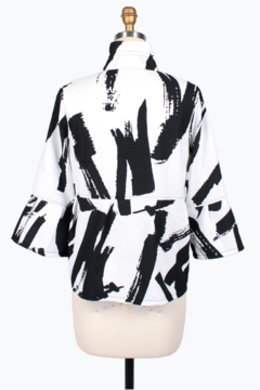 Damee Abstract Brush Stroke Short Jacket - Alternate List Image