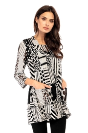 Adore Abstract Burnout Tunic - Product Mini Image