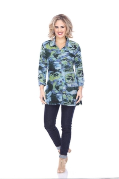 Parsley & Sage Abstract Button-Up Tunic - Alternate List Image
