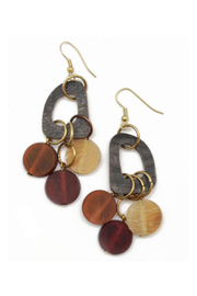 Anju Handcrafted Artisan Jewelry Abstract/Circles Earrings - Product Mini Image