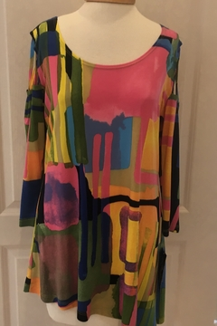 Artex Abstract Cold Shoulder Tunic Top - Product List Image