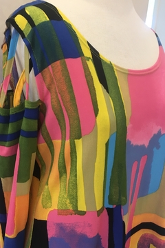 Artex Abstract Cold Shoulder Tunic Top - Alternate List Image