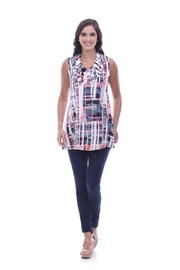 Parsley & Sage Abstract Cowl Tunic - Front cropped