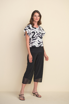 Joseph Ribkoff  Abstract design top with cape sleeves. - Alternate List Image