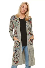 Inoah Abstract Duster Cardigan - Product Mini Image