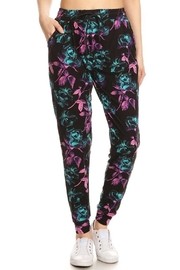 New Mix Abstract Floral Jogger - Front cropped
