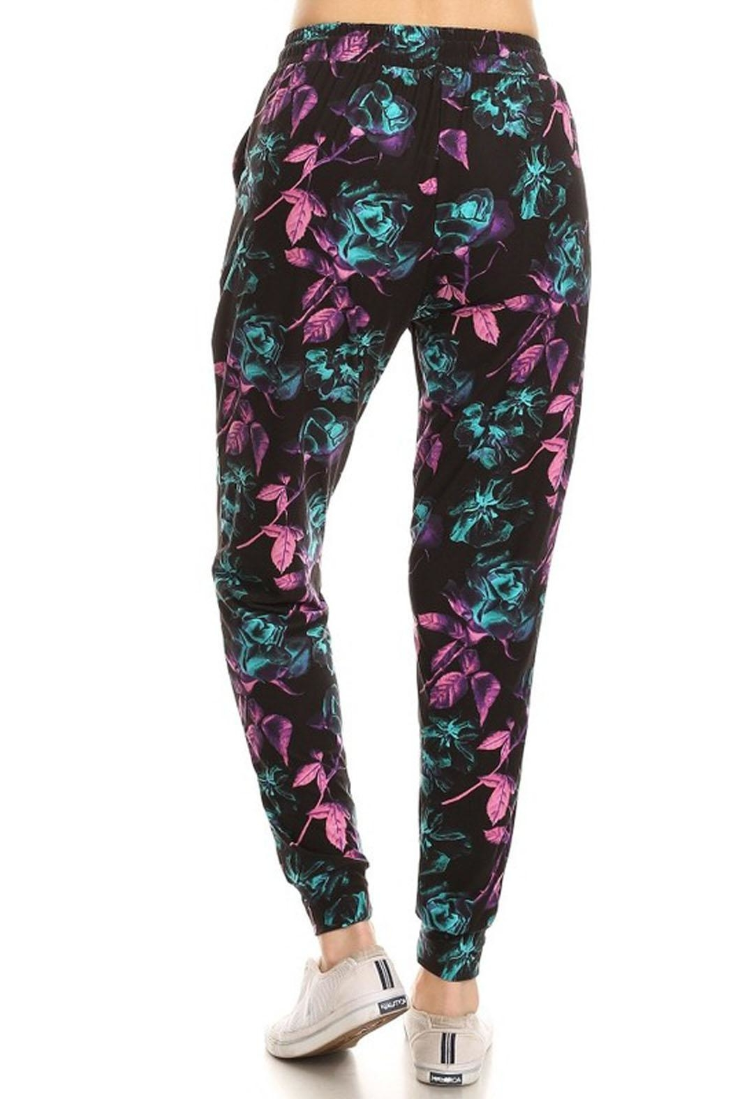 New Mix Abstract Floral Jogger - Front Full Image