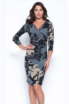 Shoptiques Product: Abstract Floral Knit Dress