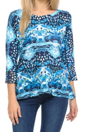 Cubism Abstract Knit Top - Product Mini Image