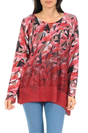Cubism Abstract Knit Tunic - Product Mini Image