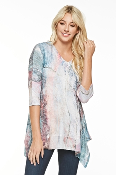 Inoah Abstract Knit Tunic - Product List Image