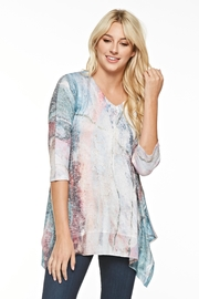Inoah Abstract Knit Tunic - Product Mini Image