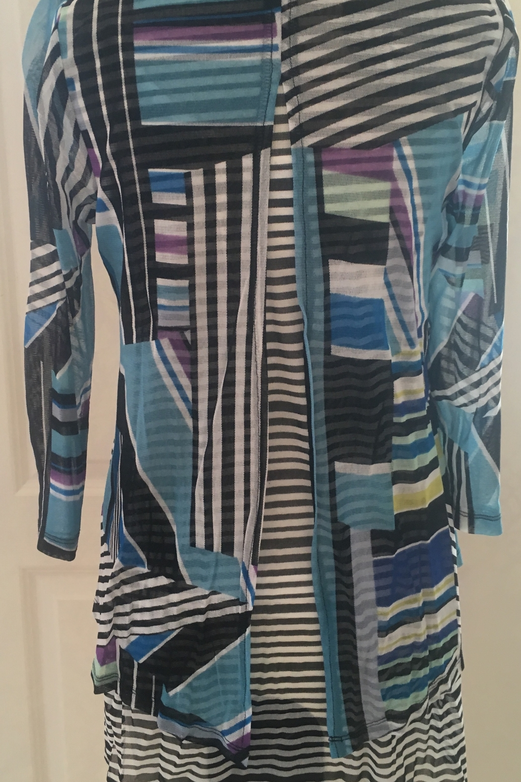 Lynn Richie Abstract Layered Mesh Top - Front Full Image