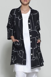 Chalet Abstract Linen Jacket - Product Mini Image