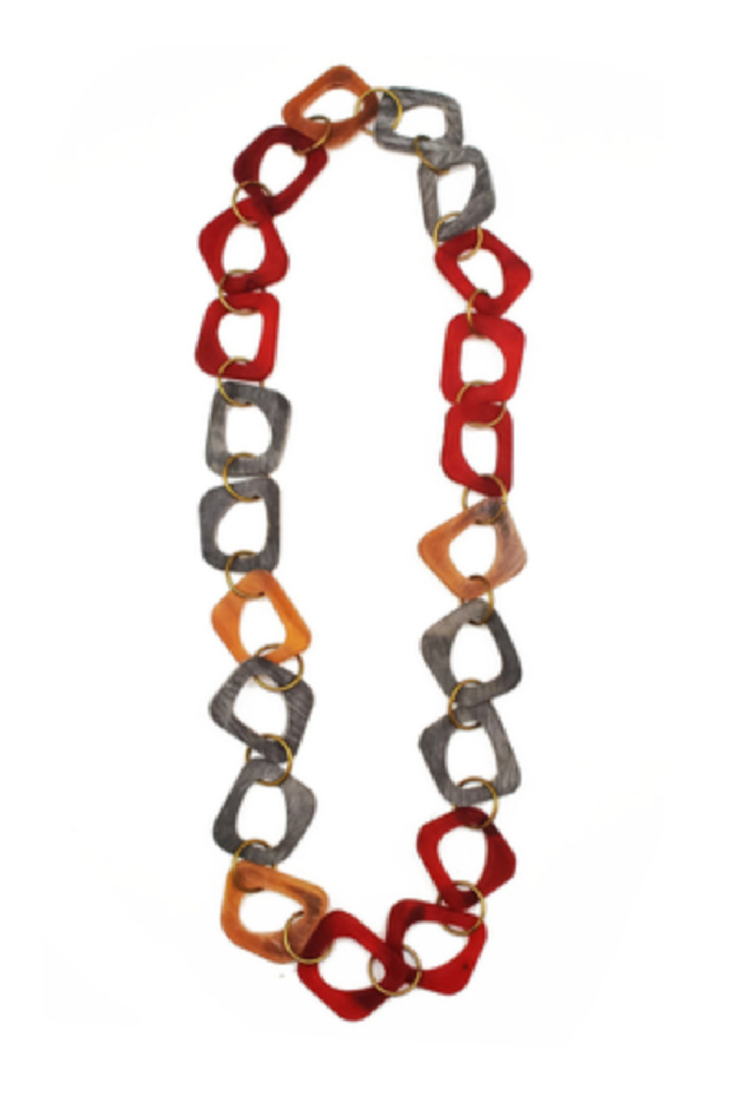 Anju Handcrafted Artisan Jewelry Omala Abstract Link Necklace - Main Image