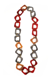Anju Handcrafted Artisan Jewelry Omala Abstract Link Necklace - Front cropped