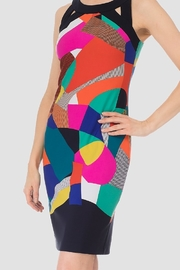 Joseph Ribkoff abstract multi color print sleeveless dress - Product Mini Image