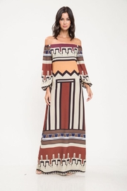 Latiste Abstract Off-Shoulder Dress - Product Mini Image