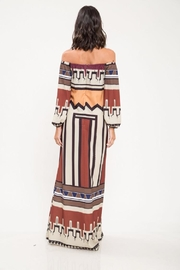 Latiste Abstract Off-Shoulder Dress - Front full body