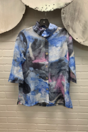 Terra Abstract Pastel Blouse - Product Mini Image