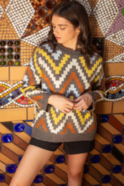 Thml Abstract Pattern Sweater - Product Mini Image
