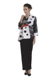 IC Collection Abstract Polka Dot Print Jacket -  3058J - Front full body
