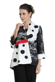 IC Collection Abstract Polka Dot Print Jacket -  3058J - Front cropped