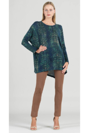Clara Sunwoo Abstract Print Lightweight Boyfriend Tunic Sweater - Product Mini Image