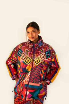 Shoptiques Product: Abstract Reversible Patches Puffer