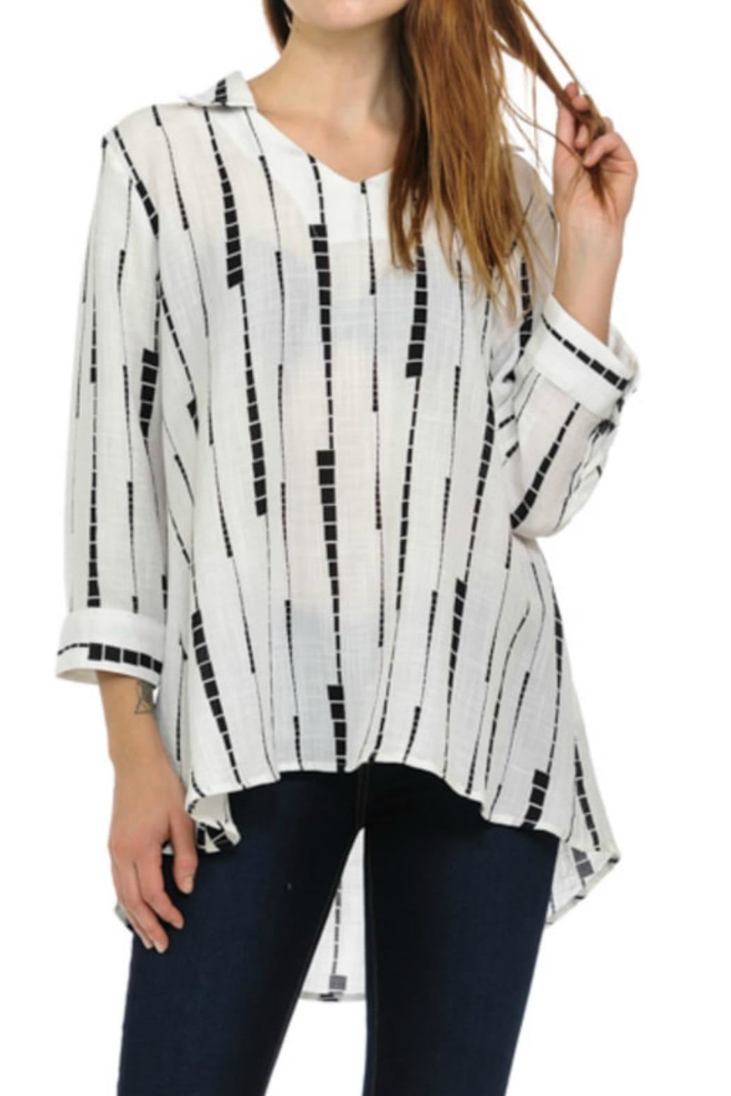 Cubism Abstract Stripe Shirt - Main Image