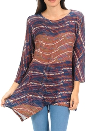 Cubism Abstract Stripe Tunic - Product Mini Image