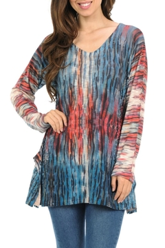 Cubism Abstract Stripe Tunic - Alternate List Image