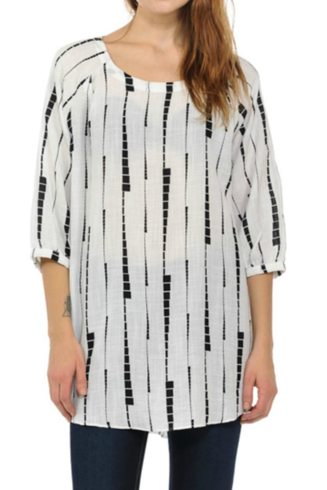 Cubism Abstract Stripe Tunic - Main Image