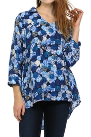 Cubism Abstract V-Neck Shirt - Front cropped