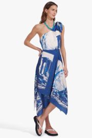STAUD Abyss Tapestry Print Midi - Product Mini Image